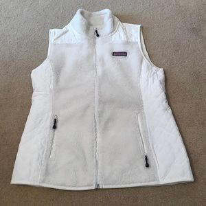 Vineyard Vines White Sherpa Vest